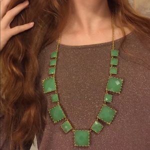Kate Spade Palm Pearls Long Necklace Green